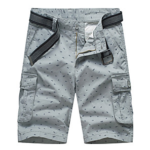 "cheap Hiking Trousers & Shorts-Men's Hiking Shorts Hiking Cargo Shorts Summer Outdoor 10"" Loose Breathable Quick Dry Sweat-wicking Comfortable Cotton Shorts Bottoms Army Green Blue Grey Khaki Camping / Hiking Hunting Fishing 28 29"