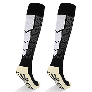 cheap Running Bags-Athletic Sports Socks Running Socks 1 Pair Tube Socks Breathable Sweat-wicking Comfortable Non-slipping Calf Guard Gym Workout Basketball Football / Soccer Running Jogging Sports Color Block Cotton