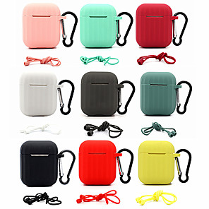cheap Headphones Accessories-Earphone Case For Apple AirPods 2 Soft Silicone Cover Wireless Bluetooth Headphone Protective Case For AirPods2 Air Accessory