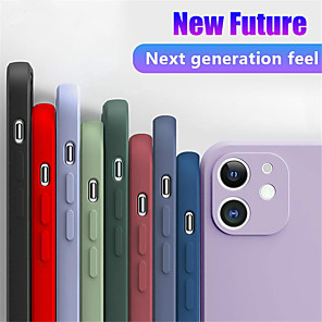 cheap iPhone Cases-New Luxury Liquid Silicone Soft Phone Case for iPhone SE 2020 11 11 Pro 11 Pro Max XS XR XS Max 8 8 Plus 7 7 Plus