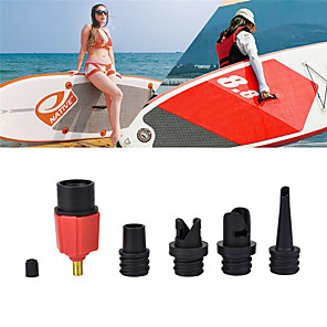 cheap Other Hand Tools-Techting Sup Air Pump Adapter Inflatable Paddle Rubber Boat Kayak Air Valve Adaptor Tire Compressor Converter 4 Nozzle