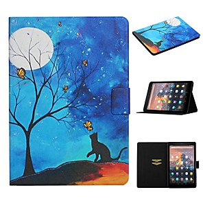 cheap Charger Kit-Case For Amazon Kindle PaperWhite 2 3 Paperwhite 2018 HD8 2016 HD 10 Fire 7 2015 2017 Card Holder with Stand Pattern Full Body Cases Cat PU Leather