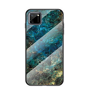 cheap OPPOCase-Case For OPPO A7x a83 a7 a5 a9 2020 a8 a31 a91  a92s ace2 Pattern Back Cover Marble TPU Tempered Glass PC