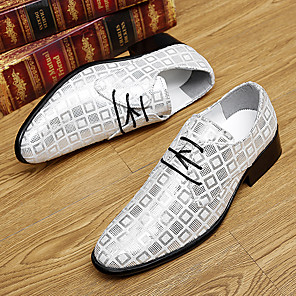 cheap Men's Oxfords-Men's Fall Casual Daily Oxfords Walking Shoes Microfiber Breathable Non-slipping Wear Proof White / Black / Red
