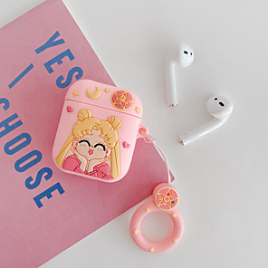 cheap Earphone Accessories-Case For AirPods 1 2 Pattern Lovely Sailor Moon Pouch Bag Soft