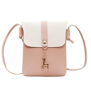 cheap Handbag & Totes-Women's Bags PU Leather Crossbody Bag for Daily Wine / Black / Blushing Pink