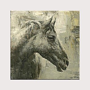 cheap Abstract Paintings-Hand Painted Modern Horse Oil Painting on Canvas Handmade Abstract Animal Wall Art for Decor