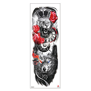 cheap Tattoo Stickers-6 Sheets Randomly Tattoo Designs Temporary Tattoos Sexy EFlower Full Arm Temporary Tattoos Full Arm Tattoo Stickers Environmentally Friendly Non-Toxic Waterproof And Durable For Men And Women