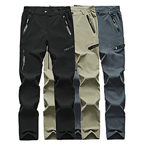 cheap Hiking Trousers & Shorts-Men's Hiking Pants Solid Color Summer Outdoor Breathable Quick Dry Sweat-wicking Wear Resistance Spandex Pants / Trousers Bottoms Dark Grey Black Camping / Hiking Hunting Fishing L XL XXL XXXL 4XL -