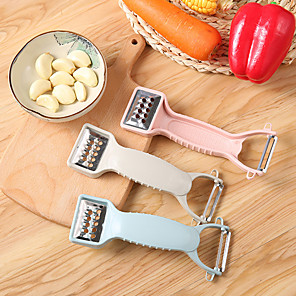 cheap Kitchen Utensils & Gadgets-Vegetable And Fruit Grater Multi-Purpose Carrot Potato Double-Head Peeler Kitchen Tool Multi-Function Fruit Peeler