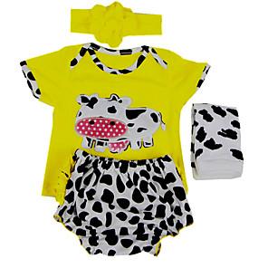 cheap Dolls Accessories-Reborn Baby Dolls Clothes Reborn Doll Accesories Cotton Fabric Spandex Fabric for 22-24 Inch Reborn Doll Not Include Reborn Doll Cow Soft Pure Handmade Boys' 4 pcs