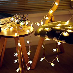cheap LED String Lights-3M 20LED Star LED String Lights USB Powered Fairy Lights Christmas Wedding Holiday Party Decoration Light