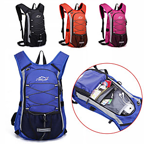 cheap Backpacks & Bags-12 L Hiking Backpack Cycling Backpack Gym Bag / Yoga Bag Breathable Straps - Quick Dry Moistureproof Dust Proof Wear Resistance Outdoor Swimming Camping / Hiking Fishing Polyester Nylon Black Pink