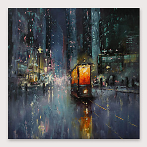 cheap Abstract Paintings-IARTS Hand Painted Streetscape Oil Painting with Stretched Frame For Home Decoration With Stretched Frame