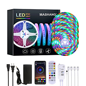 cheap LED Strip Lights-20M LED Strip Lights Waterproof RGB LED Light Music Sync 1200LEDs LED Strip 2835 SMD Color Changing LED Strip Light Bluetooth Controller and 24 Key Remote LED Lights for Bedroom Home Party