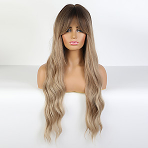 cheap Synthetic Lace Wigs-Synthetic Wig Loose Curl Layered Haircut Wig Long Synthetic Hair 26 inch Women's Fashionable Design Women curling Blonde