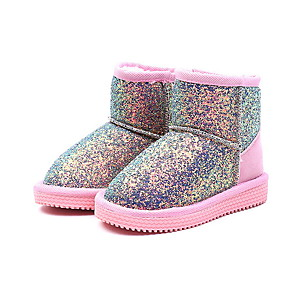 cheap Kids' Boots-Girls' Snow Boots PU Boots Little Kids(4-7ys) Black / Pink / Blue Fall / Winter