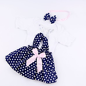cheap Dolls Accessories-Reborn Baby Dolls Clothes Reborn Doll Accesories Cotton Fabric for 17-18 Inch Reborn Doll Not Include Reborn Doll Butterfly Soft Pure Handmade Girls' 3 pcs