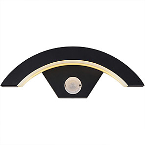 cheap Door Locks-Outdoor Lights 18W Led Wall Light Outdoor IP65 Black White Decorative Lighting Porch Garden Home  85-265V