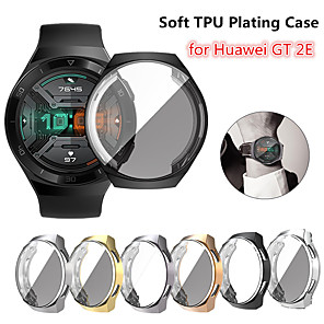 cheap Smartwatch Bands-Screen Protector Case for Huawei Watch GT 2e TPU Rugged Bumper Case Cover All-Around Protective Plated Bumper Shell Accessories Scratch-Proof Compatible