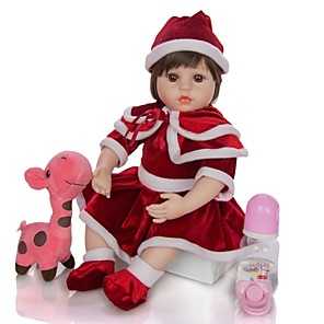 cheap Inflatable Ride-ons & Pool Floats-KEIUMI 18 inch Reborn Doll Baby & Toddler Toy Reborn Toddler Doll Baby Girl Gift Cute Lovely Parent-Child Interaction Tipped and Sealed Nails Half Silicone and Cloth Body with Clothes and Accessories