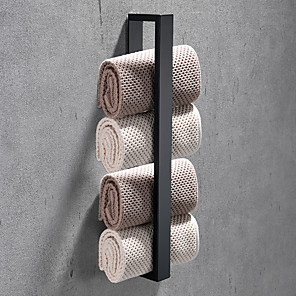 cheap Towel Bars-16-Inch Stainless Steel Bathroom Towel Holder, Self Adhesive Bath Towel Rack,  Wall Mounted, Contemporary Style Bathroom Hardware Accessories Towel Bar, Rustproof, 3 Colors, Matte Black, Brushed, Poli