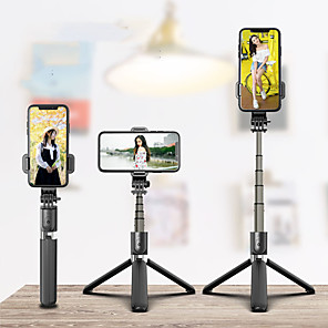 cheap Tripods & Monopods-Selfie Stick Wireless Bluetooth Selfie Tripod Foldable Handheld Monopod Tripod With Shutter Iphone Remote motion camera