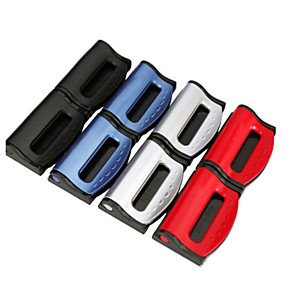 cheap Car Pendants & Ornaments-2PCS/Set Universal Car Seat Belts Clips Safety Adjustable Auto Stopper Buckle Plastic Clip 4 Colors Interior Car Accessories