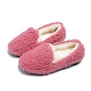 cheap Kids' Slippers-Girls' Comfort Faux Fur Flats Little Kids(4-7ys) Black / Pink / Brown Summer