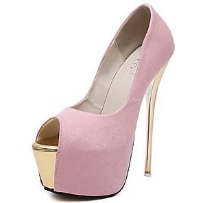 cheap Women's Heels-Women's Sandals Summer Stiletto Heel Open Toe Daily PU White / Black / Pink