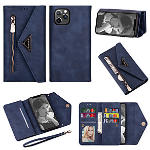 cheap iPhone Cases-Case for iPhone 11Pro Max Wallet-style Leather Case Phone Case XS Max Portable Delivery Short Rope 16 Card Pockets Case for iPhone 6 7 8Plus SE2020 Protective Case