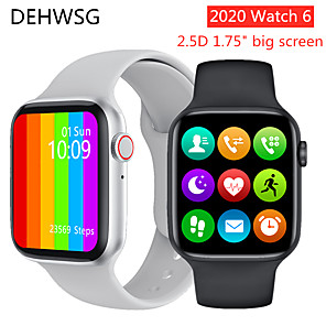 cheap Smartwatches-Watch6 Smart Watch Series 6 1.75 inch Full Touch Screen ECG PPG Heart Rate Monitor Bluetooth Call K8 PRO Smartwatch