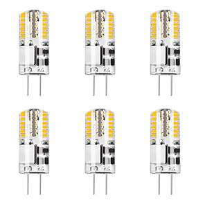 cheap LED Bi-pin Lights-6pcs 5 W 48LED G4 3014SMD Silica Gel Corn Lights LED Bi-pin Lights   LED Creative Party Decorative Crystal Chandelier Light source Energy-saving Light Bulbs Warm White White AC/DC12 V