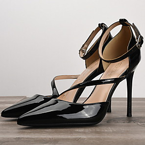 cheap Women's Sandals-Women's Heels Summer Stiletto Heel Pointed Toe Daily PU Nude / White / Black