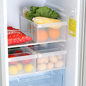 cheap Fruit & Vegetable Tools-Plastic Storage Box 1 Pc with 3 Grids for Kitchen and Refrigerator Food Storage