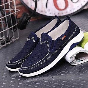 cheap Men's Slip-ons & Loafers-Men's Summer Daily Loafers & Slip-Ons Mesh Dark Blue / Light Blue