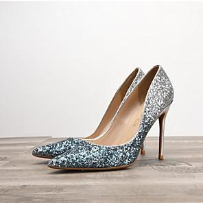 cheap Women's Heels-Women's Wedding Shoes Spring / Summer Stiletto Heel Pointed Toe Wedding PU Black / Silver / White / Purple