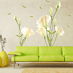 cheap Wall Stickers-Floral / Botanical Wall Stickers Plane Wall Stickers Decorative Wall Stickers PVC Home Decoration Wall Decal Wall / Window Decoration 1pc