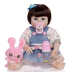 cheap RC Drone Quadcopters & Multi-Rotors-KEIUMI 19 inch Reborn Doll Baby & Toddler Toy Reborn Toddler Doll Baby Girl Gift Cute Washable Lovely Parent-Child Interaction Full Body Silicone 19D09-C355-H22-T21 with Clothes and Accessories for