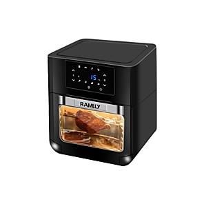povoljno Sokovnici-zračna friteza max 10l električna friteza s toplim zrakom pećnica štednjak bez ulja za pečenje led digitalni dodirni zaslon 6 programa vrući vjetar 360 stupnjeva