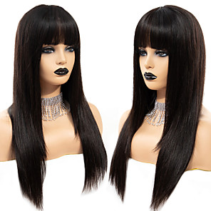 cheap Synthetic Trendy Wigs-Synthetic Wig kinky Straight with Baby Hair Wig Very Long Natural Black Synthetic Hair 68~72 inch Women's Synthetic Black