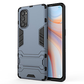 cheap OPPO Case-Case For OPPO Reno Reno Z 2 OPPO A9 2020 Realme XT C2 3 5 Pro Q OPPO A9 2020 ith Stand Back Cover Solid Colored Armor TPU PC