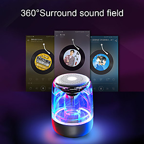 cheap Portable Speakers-C7 Transparent crystal Bluetooth Speaker Colorful Atmosphere Light Bluetooth Speaker Portable Music Audio Stereo Sound Speaker