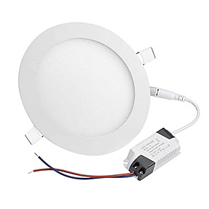 cheap LED Recessed Lights-1pcs 12W Led Pancel Light LED Downlight Recessed Round LED Ceiling Lamp AC 110V 220V Led Bulb Bedroom Kitchen Indoor LED Spot Lighting