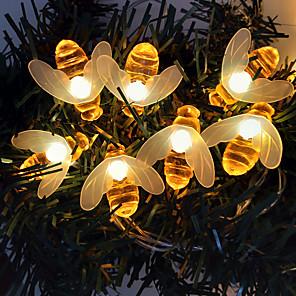 cheap LED String Lights-3m String Lights 20 LEDs Dip Led 1pc Warm White Decorative Christmas Wedding Decoration 220 V
