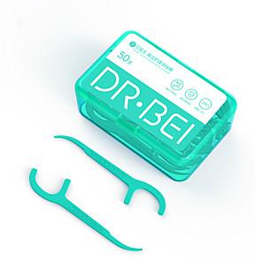 halpa Suuhygienia-xiaomi youping dr.bei hammaslanka tikku 50 kappaletta hammaslanka flosser poimii hampaat hammastikku kiinni hammas puhdas suunhoito 7.8cm
