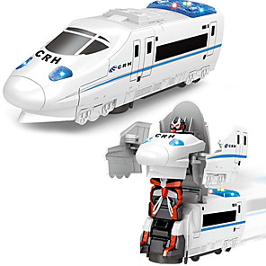 cheap Reborn Doll-Construction Truck Toys Electric Deformation Robot High-Speed Train Toy Robot Train Sounds Simulation Drop-resistant Plastic Mini Car Vehicles Toys for Party Favor or Kids Birthday Gift / Kid's