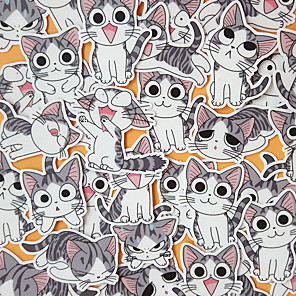 cheap Building Blocks-Sticker Cartoon Cat Stickers Cat Smooth Sticker Cute Lovely PVC (Polyvinylchlorid) For Kid's Adults' All Boys and Girls