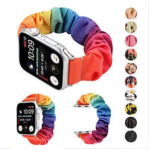 cheap Mobile Signal Boosters-Elastic Fabric Band for Apple Watch 5 Women Woven Canvas Cloth Strap Scrunchies Bracelet Accessories for iwatch series 5 4 3 2 1