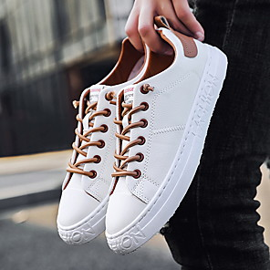 cheap Men's Sneakers-Men's Summer / Fall Casual / Preppy Daily Office & Career Sneakers Leather Breathable Wear Proof Black / Brown / Gray